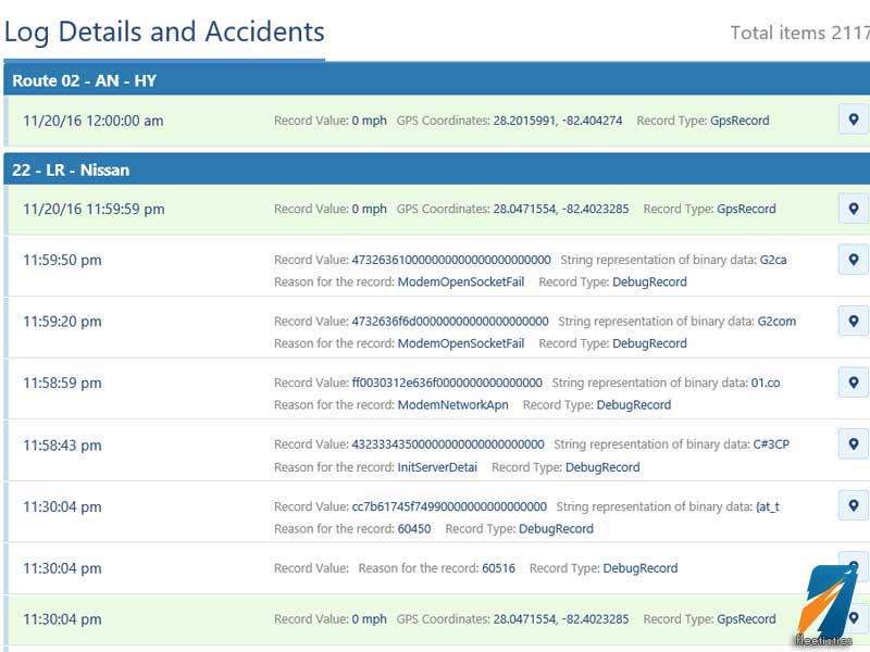 Accident Reconstruction Data