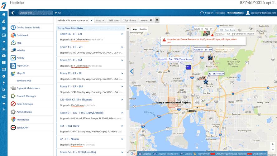 Fleetistics Geotab Vehicle Tracking Map Gps Trackers