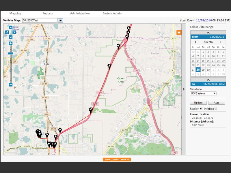 GPS Route Map Data
