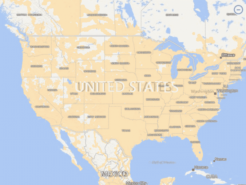 Searchaio Coverage Maps For All Cellular Networks - Us mobile service map