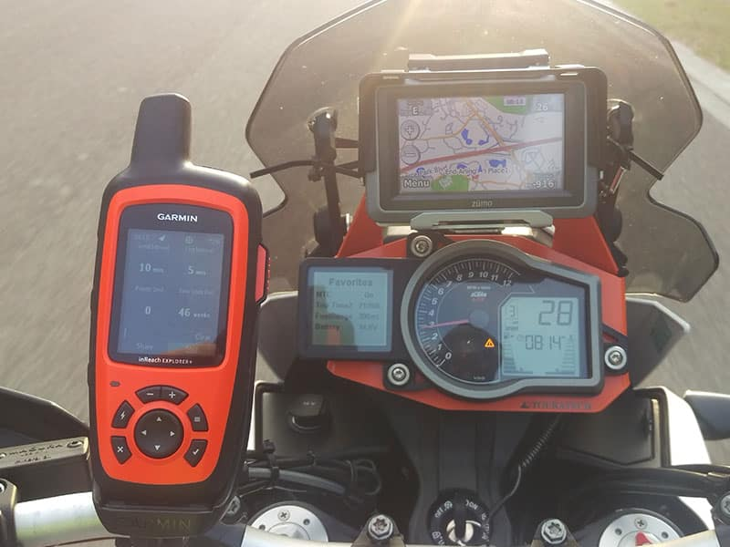 Garmin Inreach Explorer Motorcycle Tracker