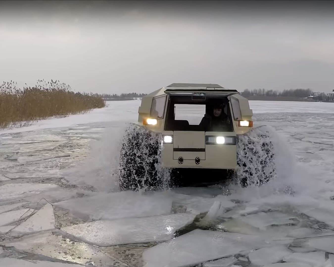 Sherp Atv For Sale >> Sherp ATV Sales - USA. All-terrain, Amphibious Work Machine with 5' Tires