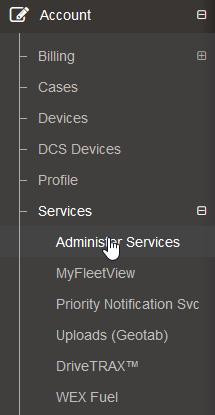 Adding Services step 1
