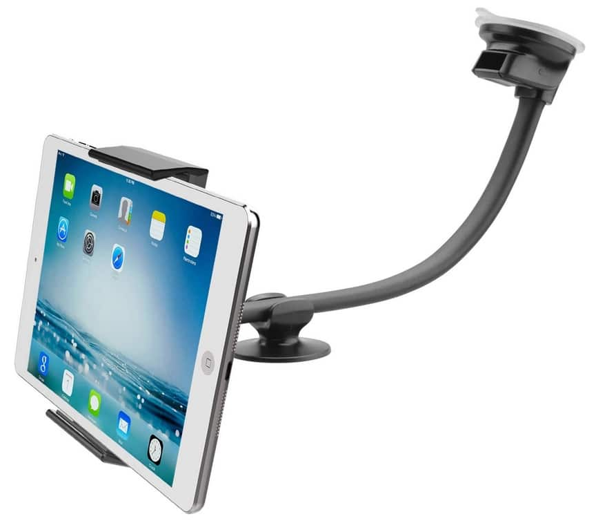Tablet Glass Mount with iPhone