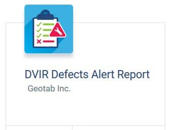 DVIR Defects Report