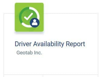 Driver Availability report