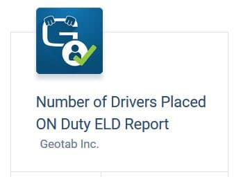 Drivers On Duty Report
