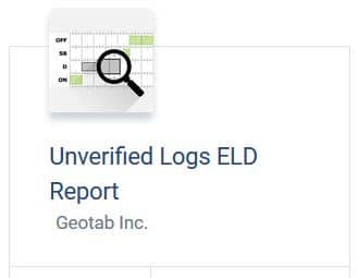 Unverified Logs report